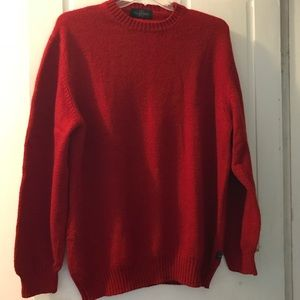 Valentino Jeans Red Wool Crew-Neck Sweater
